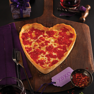 Heart-Shaped Deep Dish Pizza
