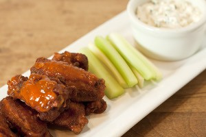 Buffalo Wings served at Lou Malnati's