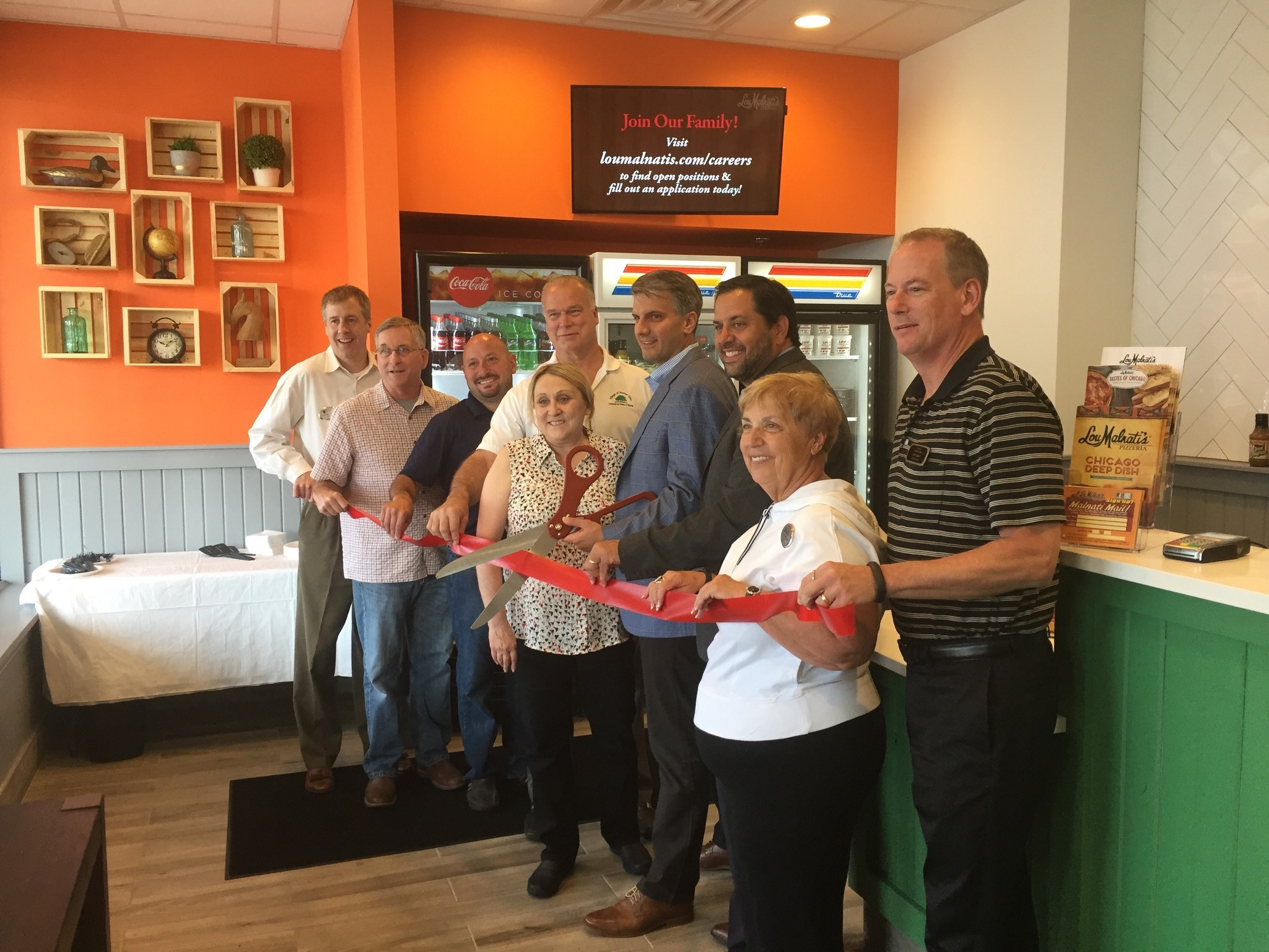 Lou Malnati's Homer Glen Ribbon Cutting