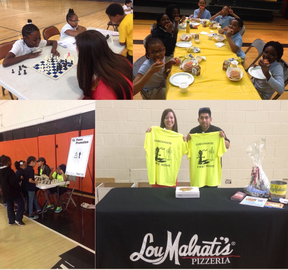 Lou Malnati's at the First Move Chess Program