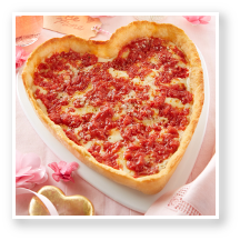 Mother's Day Heart Shaped Pizzas